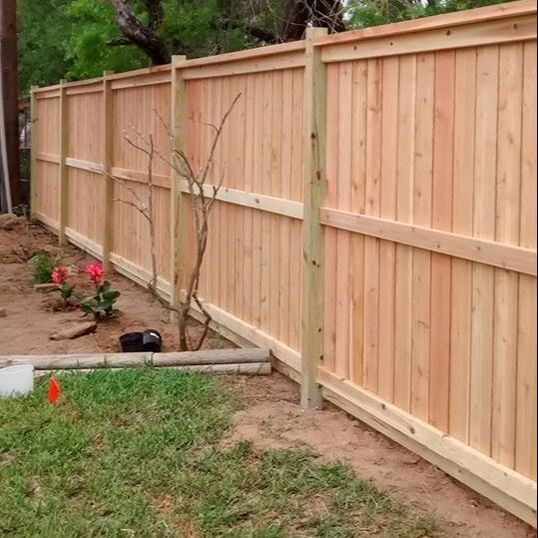 wood fencing on the house