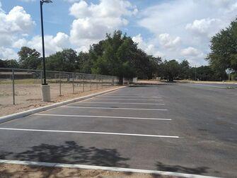 fence near parking lot